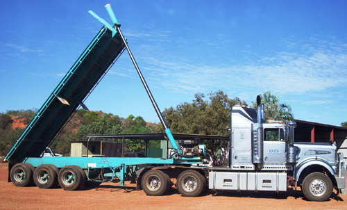 A heavy haulage truck in WA
