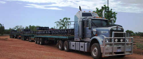 oilfield transport freight road trains